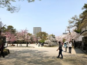 大垣城 横の公園